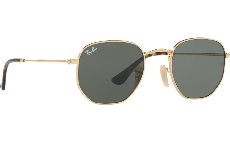 9b5fe0f6dfe77 Ray-Ban Hexagonal RB3548N 001 48 Sunglasses - Free Shipping