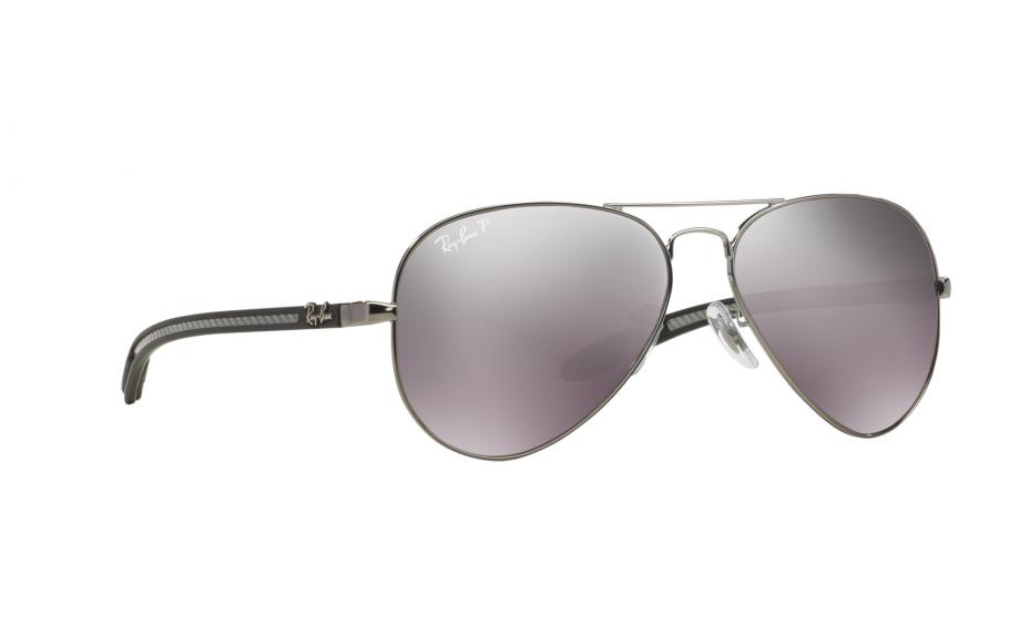 338ead23fb Ray-Ban Aviator Carbon Fibre RB8307 004 N8 58 Sunglasses - Free Shipping